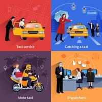 Service de taxi 2x2 bannières Set