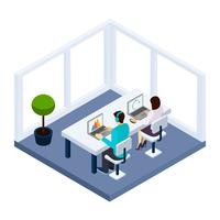 Coworking et illustration d'affaires