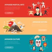 Ensemble de bannières au Japon