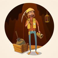 Illustration de concept minier vecteur