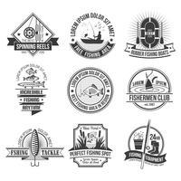 Ensemble d'emblèmes de pêche