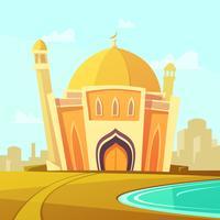 Illustration du bâtiment de la mosquée vecteur