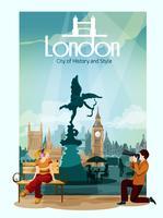 Illustration de l'affiche de Londres vecteur