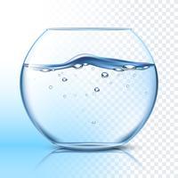 Bocal à poisson avec pictogramme plat de l'eau