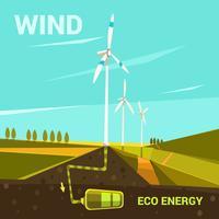 Caricature énergétique écologique vecteur
