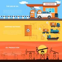 Ensemble de bannières d'huile