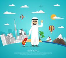 Affiche de voyage arabe vecteur