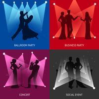 Concept de design de fête