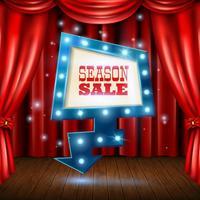 Illustration de bannière de vente de saison vecteur