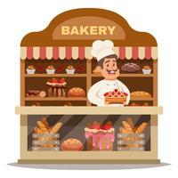 Concept de design de boulangerie vecteur