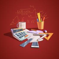 Concept de science mathématique vecteur