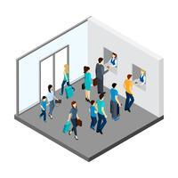 Illustration isométrique de gens souterrains