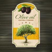 Étiquette huile d'olive vecteur