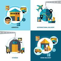 Logistique 2x2 Design Concept Set