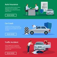 Ensemble de bannières horizontales d'assurance auto