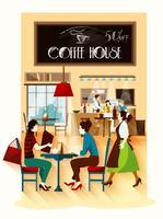 Concept de design de maison de café
