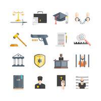 jeu d'icônes de justice