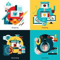 Concept de design de prototypage et de modélisation 2x2