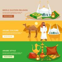 Jeu de bannière de culture arabe