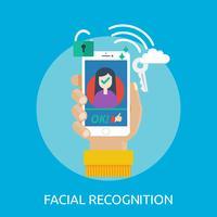 Reconnaissance faciale Illustration conceptuelle Conception vecteur