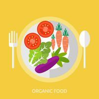 Alimentation biologique Illustration conceptuelle Conception vecteur