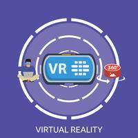 Réalité virtuelle Illustration conceptuelle Design vecteur