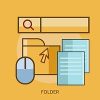 Dossier Design conceptuel Illustration conceptuelle Design vecteur