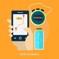 Time Running Conceptuel illustration Design vecteur