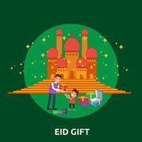 Eid Gift Illustration conceptuelle Design vecteur