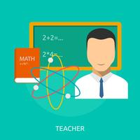 Illustration conceptuelle enseignant Conception
