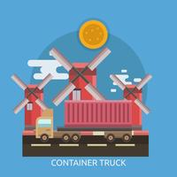 Camion conteneur Illustration conceptuelle Design