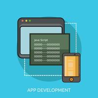 App développement conceptuel illustration design vecteur