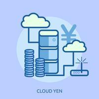 Cloud Bitcoin Conceptuel illustration Design