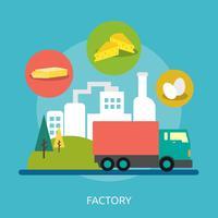 Illustration conceptuelle d'usine vecteur