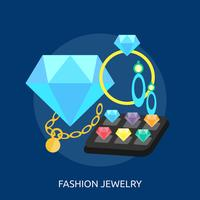 Bijoux fantaisie Illustration conceptuelle Design vecteur