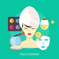 Poudre pour le visage Conceptuel illustration Design