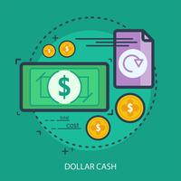 Dollar Cash Conceptuel illustration Design