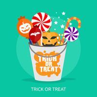 Trick Or Treat Conceptuel illustration Design