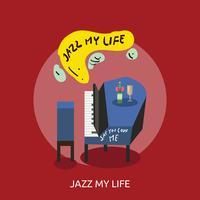 Jazz My Life Illustration conceptuelle Design vecteur
