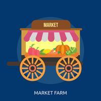 Market Farm Illustration conceptuelle Design vecteur