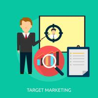 Cible Marketing Illustration conceptuelle Conception
