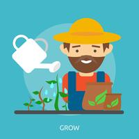 Grow Illustration conceptuelle Design vecteur