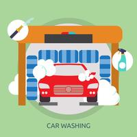 Voiture, lavage, conceptuel, illustration, conception