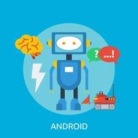 Conception d'illustration Android conceptuel