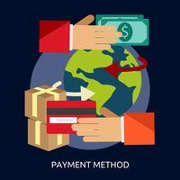 Méthode de paiement Illustration conceptuelle Conception vecteur