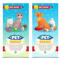 Bannières verticales Pet Shop