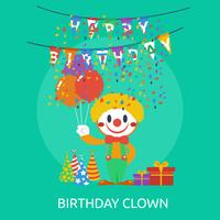 Anniversaire Clown Conceptuel illustration Design