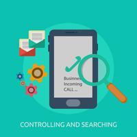 Contrôle et recherche conceptuelle illustration design vecteur