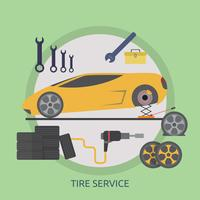Service de pneus Illustration conceptuelle Conception