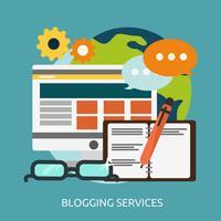 Services de blogging Illustration conceptuelle Conception